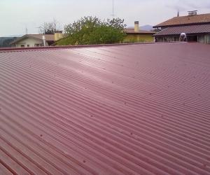 struttura su terrazza con copertura finito 1