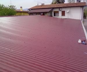 struttura su terrazza con copertura finito